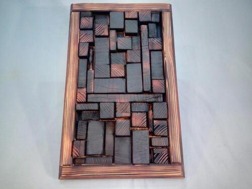 A13,dekorační obraz, smrk, opálené dřevo, d - 28 cm, v -48 cm - 500 Kč