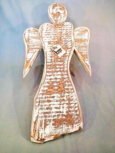A5, anděl na pověšení, bílý, staré opracované dřevo, interiér, exteriér, d - 43 cm , v - 80 cm - 750 Kč